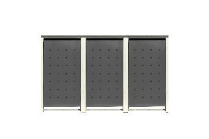 m lltonnenbox 4er der sichtschutz f r 4 tonnen. Black Bedroom Furniture Sets. Home Design Ideas