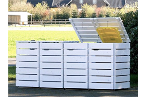 Mülltonnenbox 4er 120l holz