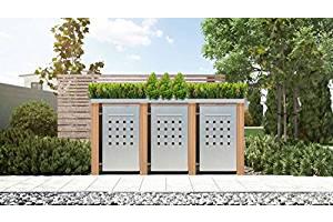Mülltonnenbox Pflanzdach 4x4 Design Lärchenholz