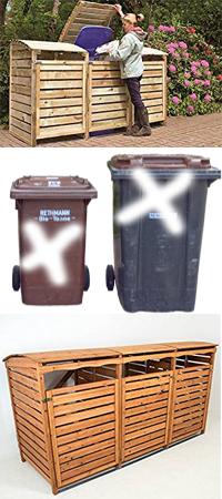 Mülltonnenverklediung holz